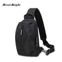 Heroic Knight Multifunction Crossbody Bags Men USB Charging