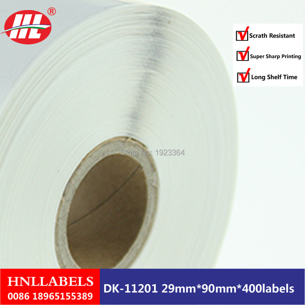 20X Rolls Brother Compatible Labels Dk11201 Without Reusable Cartridges Frames Dk-1201 Dk-11201 29 X 90mm
