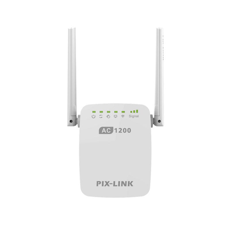 PIX-LINK 1200Mbps Wifi Range Extender Wireless Repeater Wifi Extender Internet Signal Booster With External Antennas Full Cove
