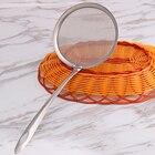 Stainless Steel Mesh Oil Strainer Colander Spoon Filter Soup Strainer Kitchen Tool (Big)