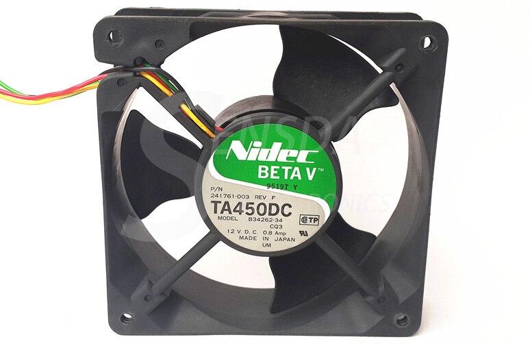 Nidec B34262-34 120mm 12V 0.8A 12cm 12*12cm 120*120*38mm server inverter axial cooling fans