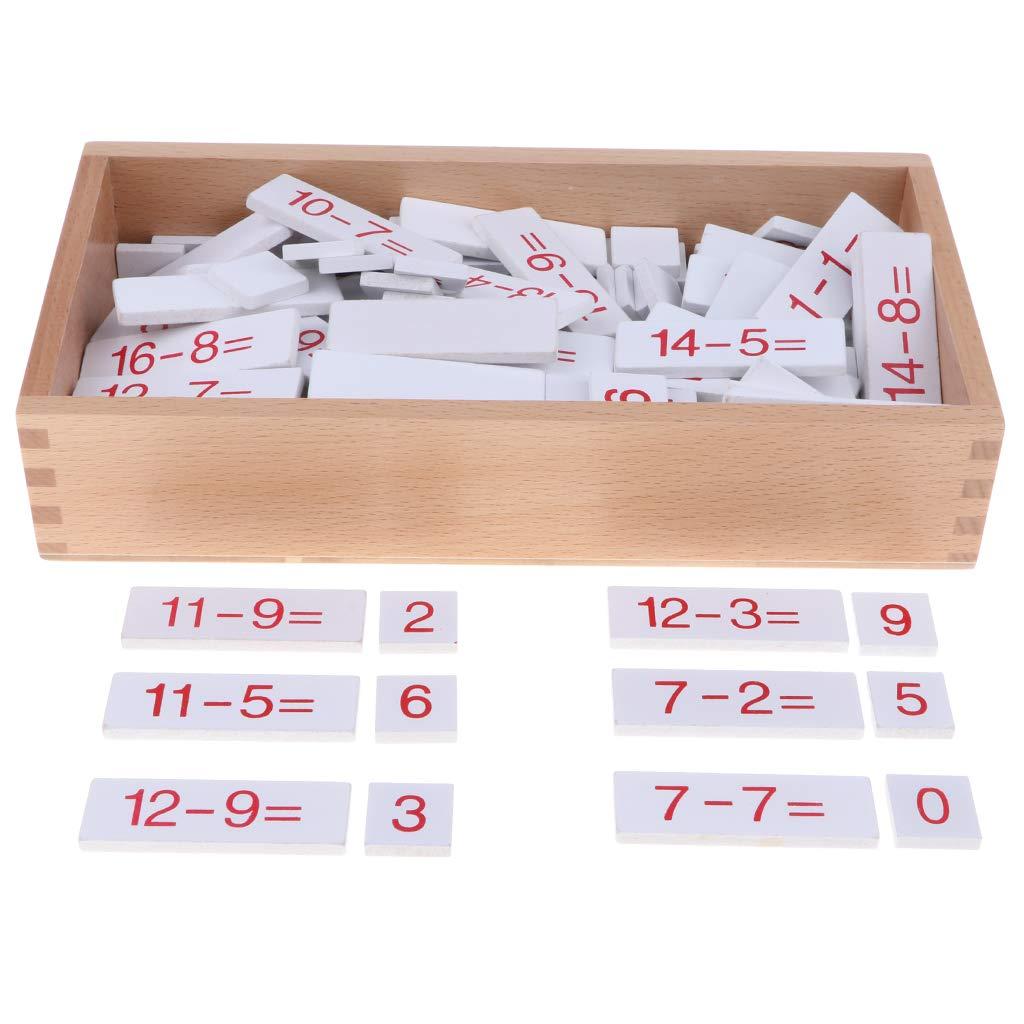 Enfants Montessori mathématiques matériel en bois soustraction jouet mathématiques apprentissage aides pédagogiques préscolaire maternelle cadeau éducatif