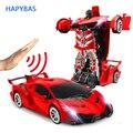 2.4Ghz Induction Transformation Robot voiture 1:14 déformation RC voiture jouet lumière led électrique Robot modèles combat jouets cadeaux|Voitures télécommandées| |  -