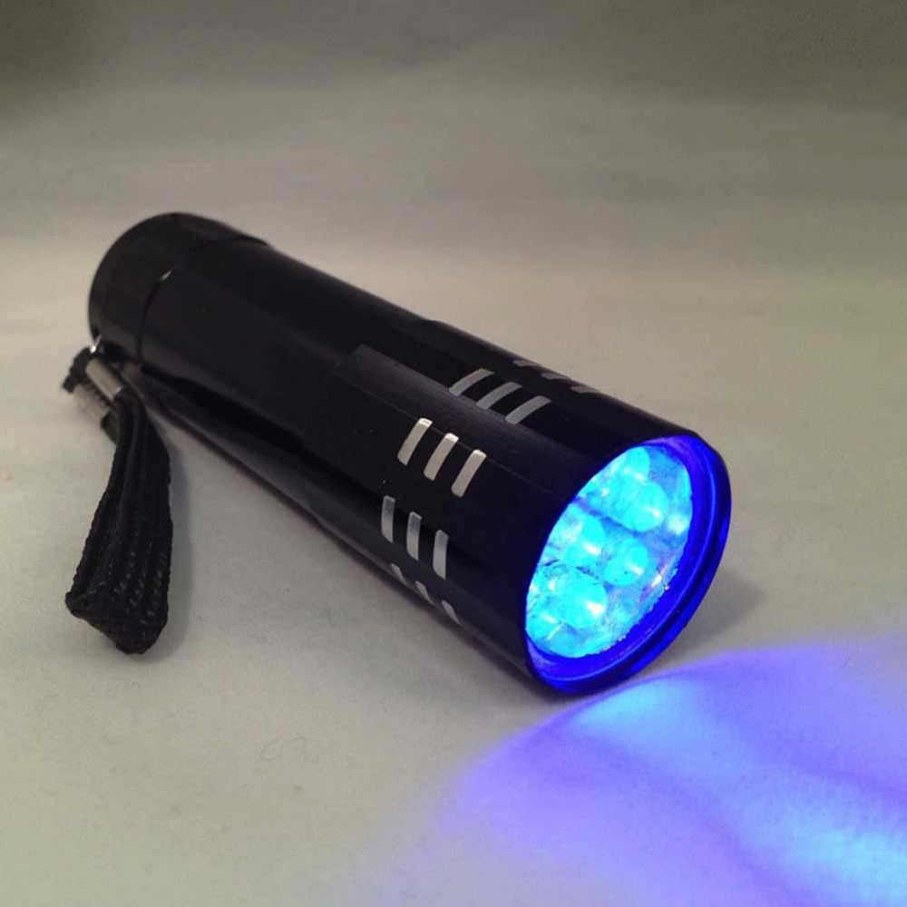 Wysokiej jakości latarka UV światła latarka w kształcie długopisu światło fioletowe przez baterię AAA do markera kontroler środków pieniężnych wykrywania
