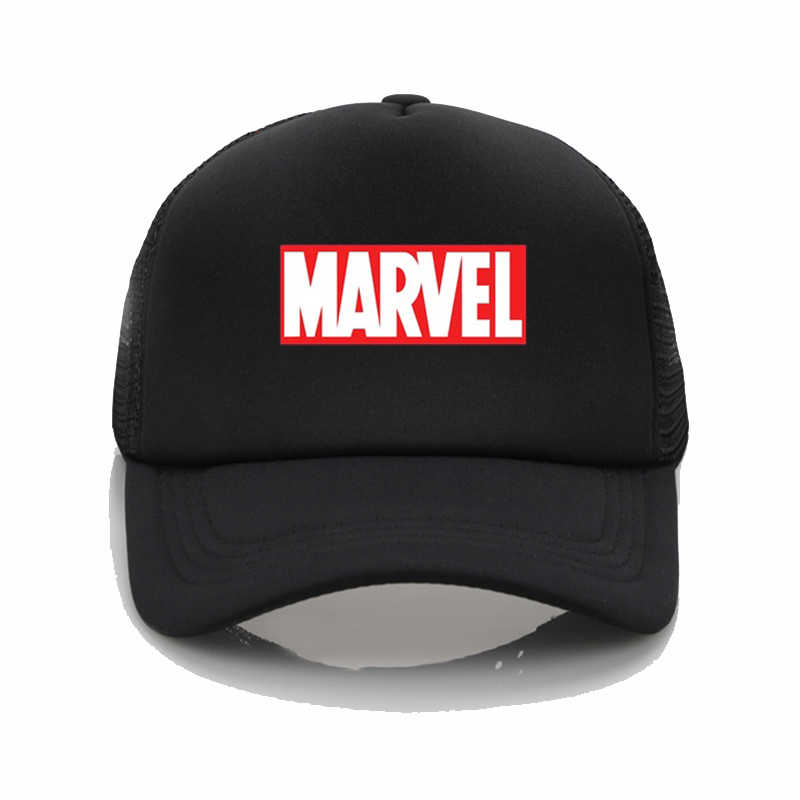 e5885336710 Marvel letter Printed baseball cap Fashion High quality cotton hat adult men  and women summer hip