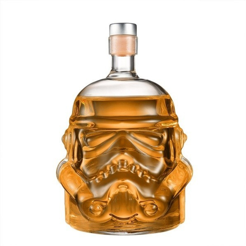650ml Glass Liquor Whiskey Wine Crystal Bottle Drink Decanter Carafe Stopper Bottle Durable Cosplay Accessories