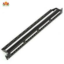 19in 1U шкаф стойка UTP 24 порта CAT6 патч-панель RJ45 сетевой кабель адаптер неэкранированный модульный Keystone Jack распределительная рамка