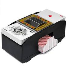 Board Game Automatic Poker Card Shuffler Wooden Electric Playing Shuffling Machine Gift Funny Family Game Party Club Accessory(China)