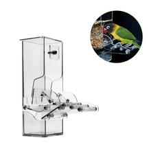 Acrylic Automatic Parrot Feeder Pet Feeding Device - Seed Food Container Bird Cage Accessories For Parakeet Canary Cockat