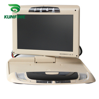 9 Inch Car Roof Monitor LCD Flip Down Screen Overhead Multimedia Video Ceiling Roof mount Display Build in IR/FM Transmitter USB