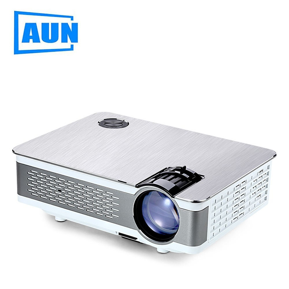 AUN AKEY5 UP. Full HD Projector 1920*1080P, 3,800 Lumens, Android LED Beamer with WIFI, LED TV. Home Theater Optional AKEY5 2017 new android 4 4 led projector full hd 1080p wifi 5600 lumens tv smart projector free shipping