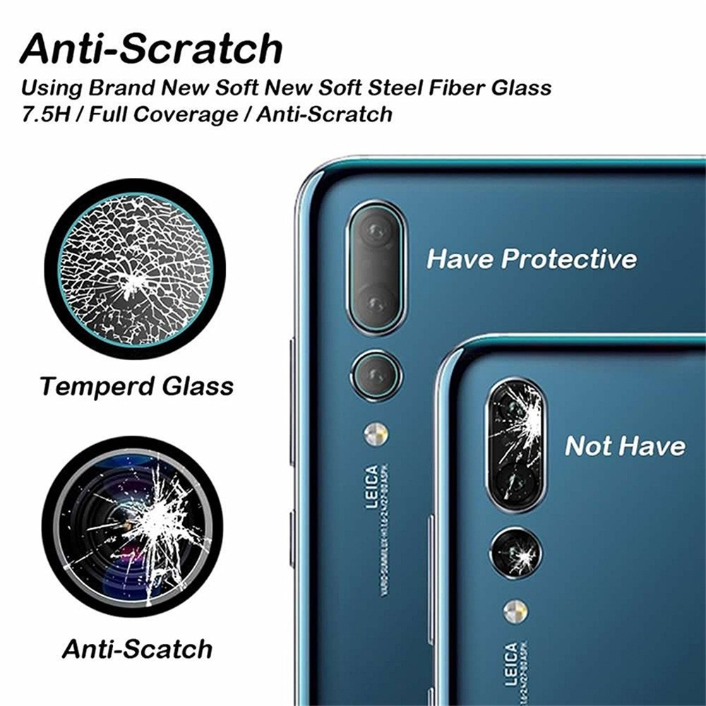 2PC 9H Camera Lens Screen Protector Tempered Glass for Huawei P30 P20 Nova 4E 3i Y6 Y7 Y9 Pro Lite Anti scratch Protective Film in Phone Screen Protectors from Cellphones Telecommunications