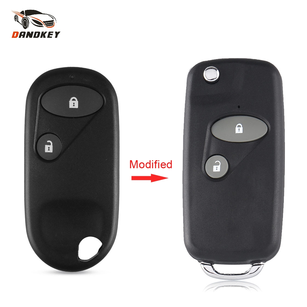 1 3 Buttons Remodel Remote Flip Folding Key Shell Cover For Honda Civic CRV 2