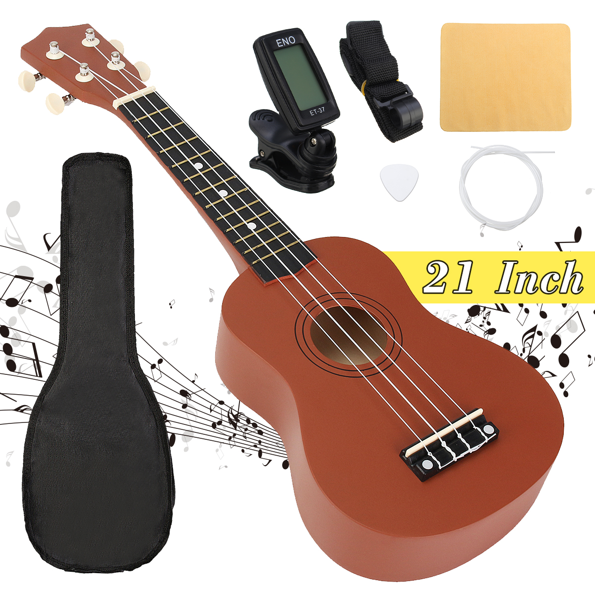 buy 21 inch soprano ukulele uke 4 strings hawaii bass guitar guitarra musical. Black Bedroom Furniture Sets. Home Design Ideas