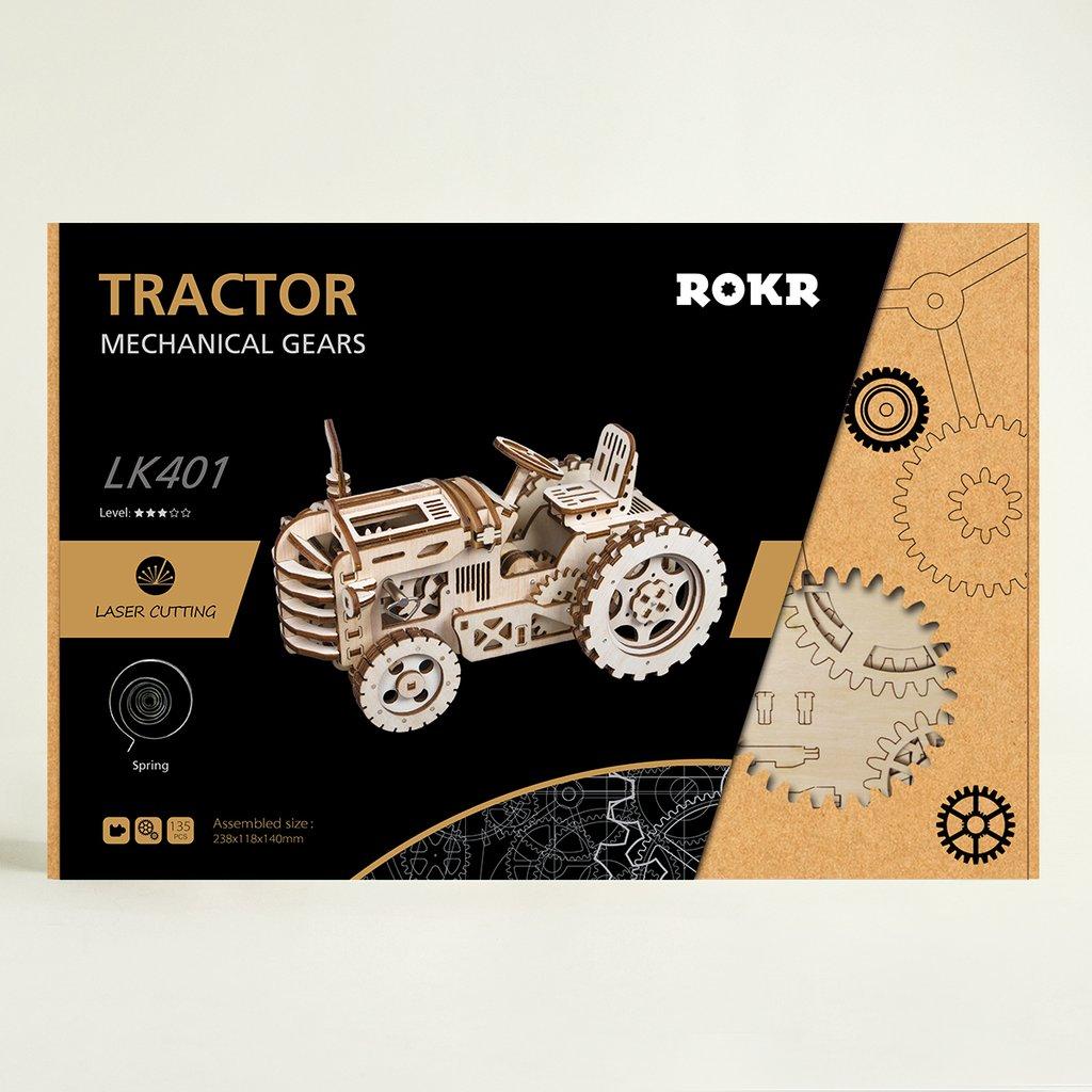 Robotime bricolage créatif engins d'entraînement tracteur 3D en bois modèle construction Kits jouets loisirs cadeau pour enfants adulte LK401 - 4