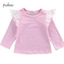 Pudcoco бренд Одежда для новорожденных для маленьких девочек Одежда для младенцев с длинным рукавом футболки футболки, комплекты