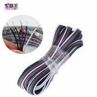 2pin 3pin 4pin 5pin LED Verlängerungskabel Elektrische Draht Power Kabel Stecker kupfer draht Für SMD 3528 5050 LED Streifen lichter 22AWG