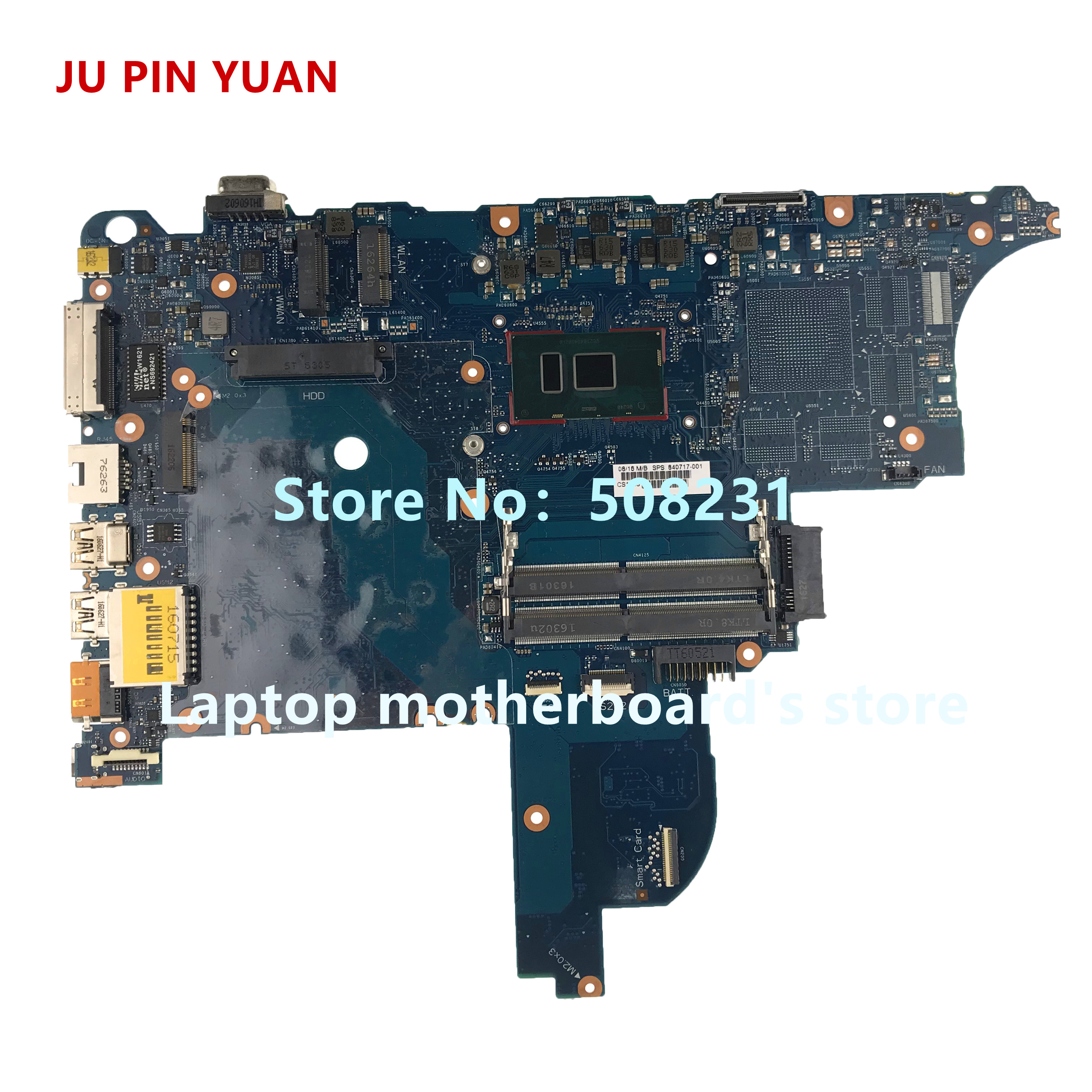 JU PIN YUAN 840717-601 840717-001 840717-501 Laptop motherboard for HP ProBook 640 <font><b>650</b></font> G2 Notebook PC <font><b>i5</b></font>-6300U fully Tested image
