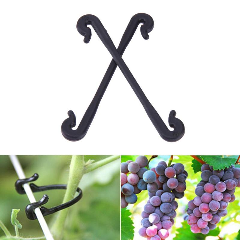 200pcs Vines Fastener Tied Buckle Hook Grafting Clips Fastener Flower Vegetable Bushes Plant Tendril Clip Greenhouse Supplies
