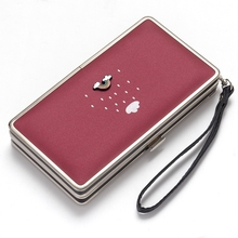 Ladies Wallet In Long Mobile Phone Bag Cute Cartoon Lunch Box Small Coin Purse cute dolphin style mobile phone wallet bag decoration deep pink white