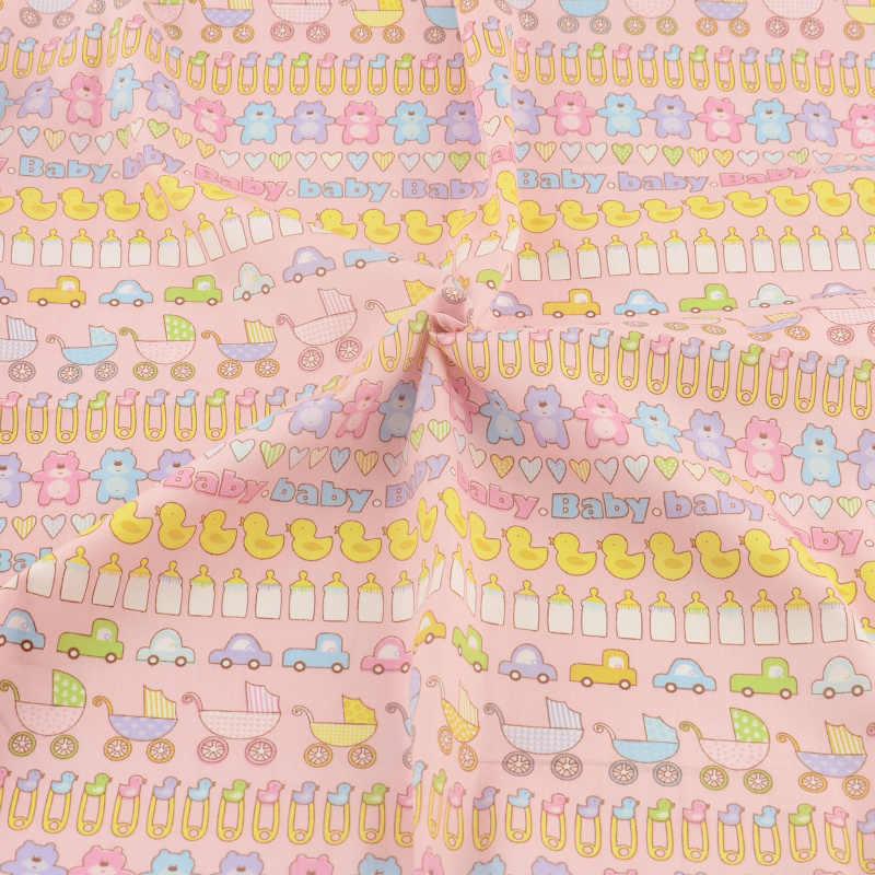 Tissu en coton rose pour couettes bébés | Vêtements pour literie, tissu Patchwork Teramila, tissu de couture, couverture pour Textile de maison, décoration