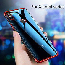 Electroplate Clear Soft TPU Silicon Case for Xiaomi Play max
