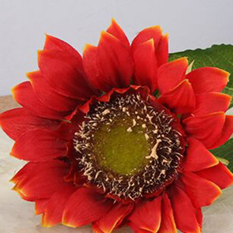 5pcs lot Silk Sunflower decorative artificial flowers Home Decorations Accessories Plastic Plant Leaves Party Supplies in Artificial Dried Flowers from Home Garden