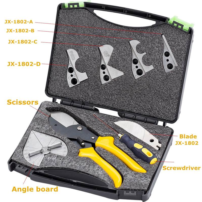 Tools : JX-C8025 45    -135     Adjustable Universal Angle Cutter Mitre Shear With Blades Screwdriver Tools For Cutting New