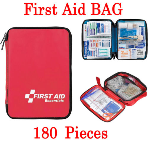 180 Pcs First Aid Kit - All-Purpose Premium Medical Supplies And Emergency Bag Emergency Bags