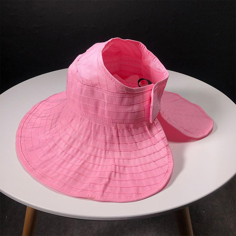 Summer Parent-child Sun Hat Female Wild Fashion Ride Folding Sun Hats Empty Top Hats Wide Brim Visor Girls Beach Hat