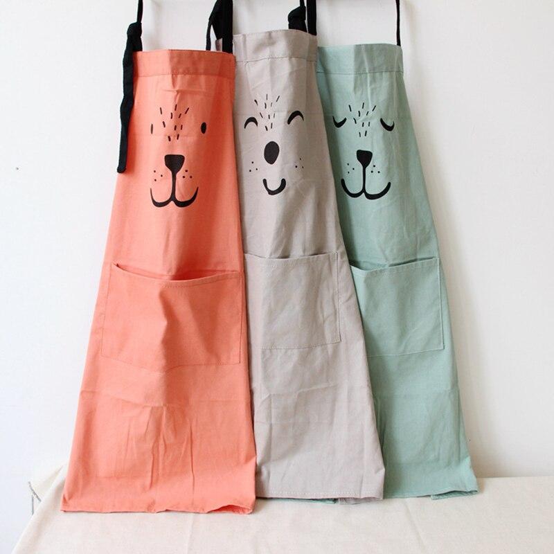 1 Pcs Kid Bibs Aprons Sleeveless Anti-oil Waist Kitchen Apron Women Cooking Apron Sleeveless Cotton Cartoon Cleaning Apron Kit