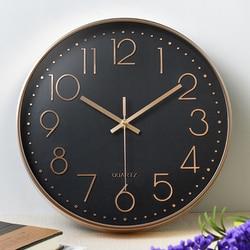 Zegar kwarcowy zegar ścienny cichy 12 cal zegar cyfrowy Hotel ozdoba salon mody różowe złoto biuro wiszący zegar
