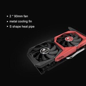 Image 2 - Renkli GeForce GTX 1660 grafik kartı Nvidia GPU NB 6G GDDR5 Video kartı 192 Bit PCI E3.0 HDMI + DVI ekran kartı PC oyun için