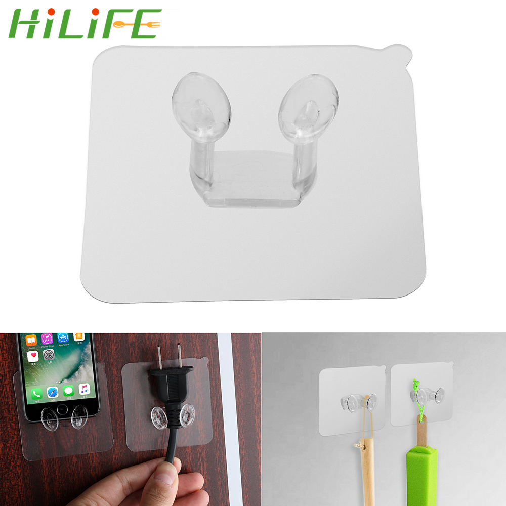 1pc 5pcs Multi-function Wall Storage Hooks Strong Adhesive Hook Power Plug Socket Hanger Holder Wall Mounted Self Sticky Hooks