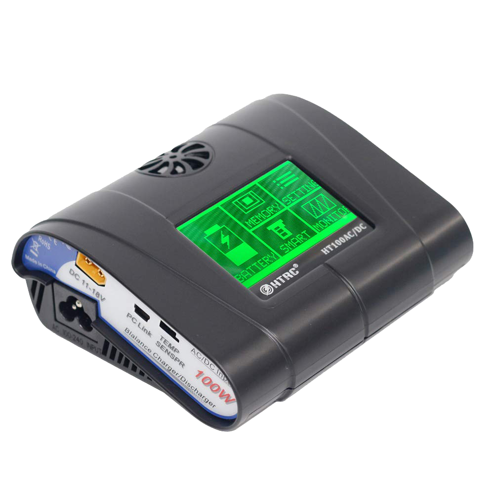 HTRC Eu Plug Lipo Charger 100W 10A Ac/Dc Ht106 Press Screen Rc Hobby Balance Charger Discharger For Lipo Li-Hv Lilon Life NimhHTRC Eu Plug Lipo Charger 100W 10A Ac/Dc Ht106 Press Screen Rc Hobby Balance Charger Discharger For Lipo Li-Hv Lilon Life Nimh