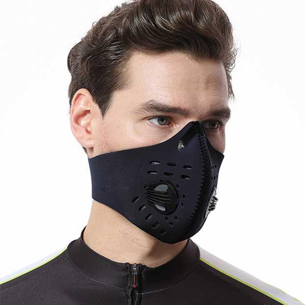 1Pcs Activated Carbon Mask Windproof Cycling Mask Anti Dust Riding Bicycle Half Face Winter Mask