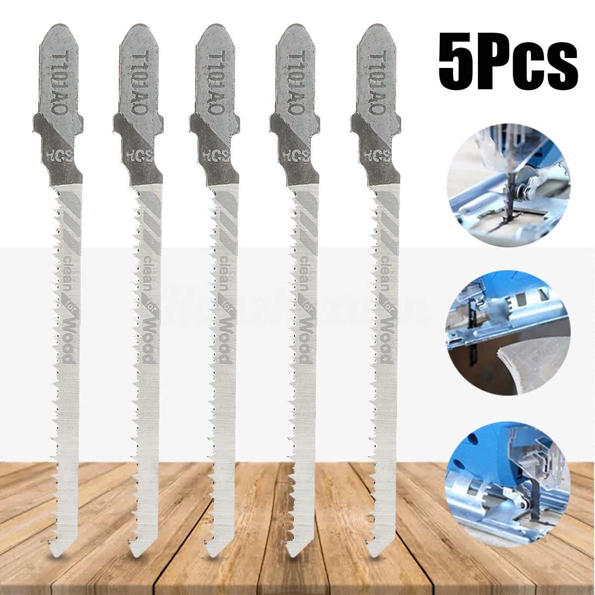 5cs Doersupp Steel Reciprocating Wood Saw Blades Tool Set For  Makita 7.4x0.5cm/2.91x0.2