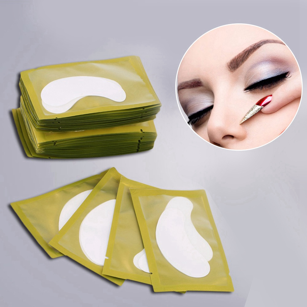 50 Packs Eye Pads Eye Gel Patches Tips Sticker Eye Care Paper For Eyelash Extension