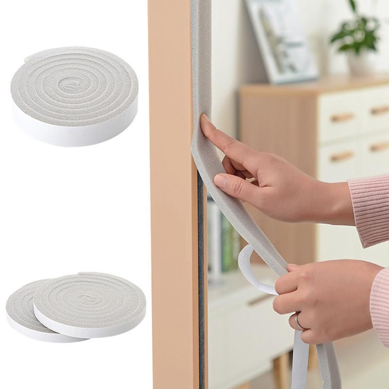 Door Sticker Door Windows Gap Bottom Windproof Soundproofing Self-Adhesive Strip Foam Collision Avoidance Rubber Weatherstrip