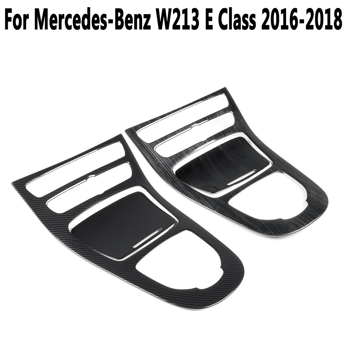 For Mercedes-Benz W213 E Class 2016 2017 2018 Console Gear Panel Frame Cover Trim ABS Carbon Fiber Color Trim Stickers PartsFor Mercedes-Benz W213 E Class 2016 2017 2018 Console Gear Panel Frame Cover Trim ABS Carbon Fiber Color Trim Stickers Parts