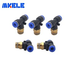 Pneumatic fitting T-Y three-way external thread throttle valve two-way rapid adjustment 1 free shipping  Large favorably
