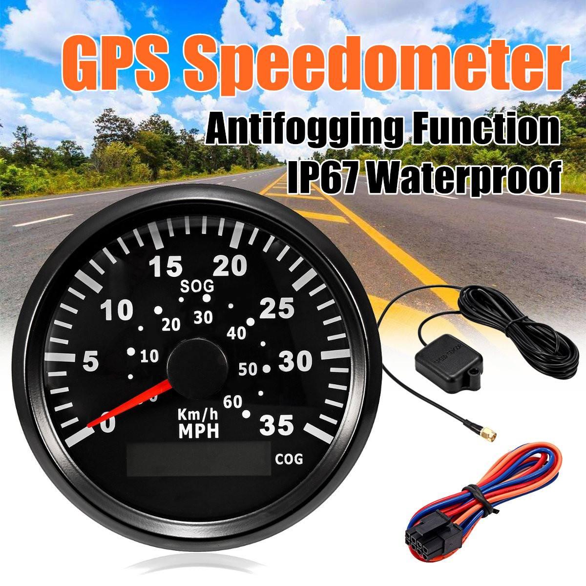 85mm 60km  H 35mph Gps Speedometer Digital Gauge Odometer