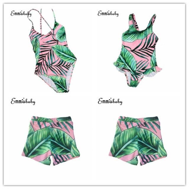 a295aabddb Family Matching Women Men Kids Baby Girls Boys Bikini Bathing Suit Swimwear  Hot Sale Fashion Summer Bikini Polyester Swimsuit