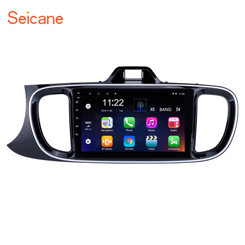 Seicane Car Multimedia Player Navigation GPS Android 8.1 Head unit For 2017 KIA PEGAS Left Hand Driving suppport DVR Digital TV