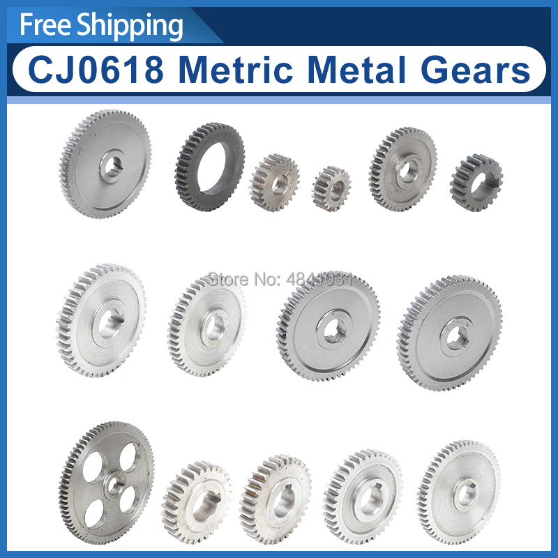 CJ0618 Metric Metal Gears/Main Shaft Gear/Feed Gear/20T/25T/30T/35T/40T/45T/50T/55T/57T/60T/65T/80T