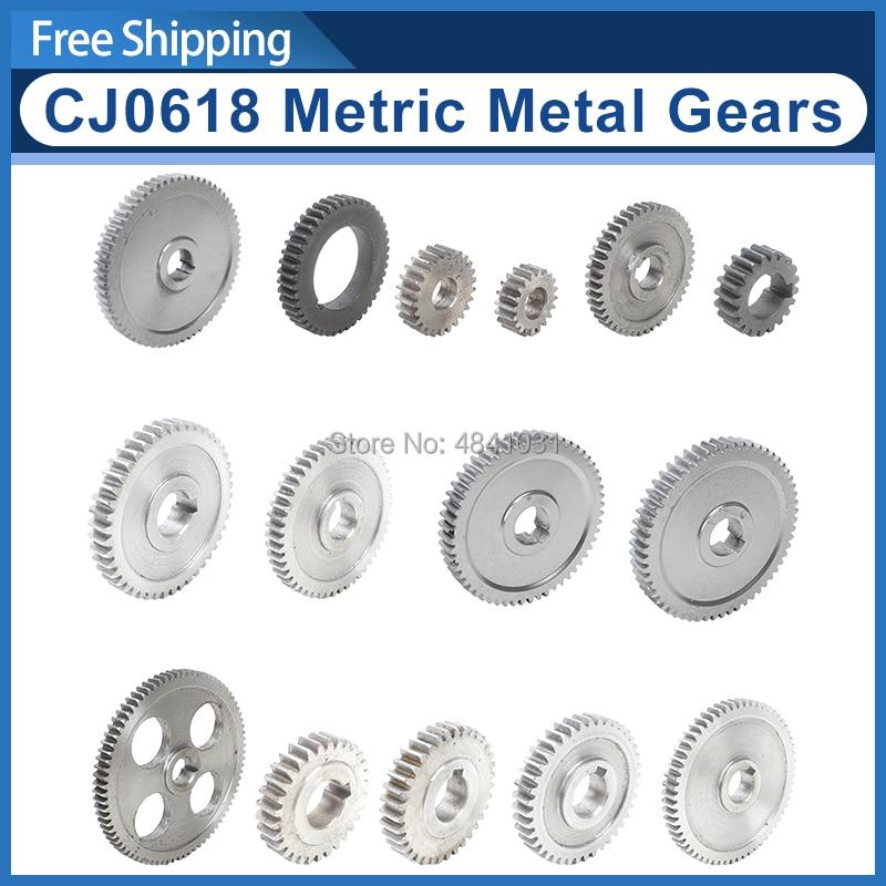 CJ0618 Metric Metal Gears/Main Shaft Gear/Feed Gear/20T/25T/30T/35T/40T/45T/50T/55T/57T/60T/65T/80T