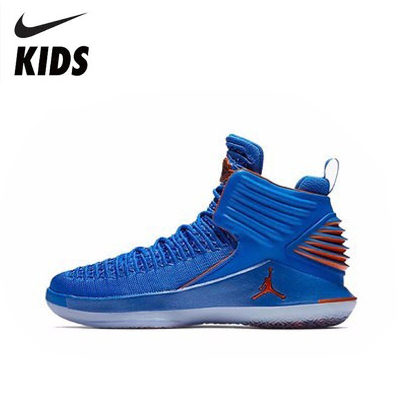 bf2a3ec30a0d NIKE AIR JORDAN XXXII LOW BG AJ32 Boy And Girl Actual Combat Basketball  Shoes Non-