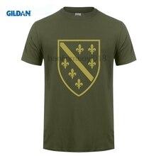GILDAN 3D Print Fashion High Quality Mens T-Shirt Bosna I Hercegovina Sarajevo Bosnia Bih Lilien Tee Shirt