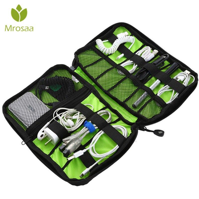 Portable Cable Storage Organizer Bag Waterproof Shockproof Earphone Digital USB Cable Sorting Travel Insert Bags Storage Bags