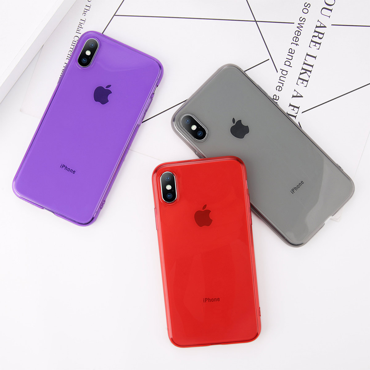 ed68ecb8e91b7 KJOEW Soft Transparent Case For iPhone X 6 6S 7 8 Plus Solid color Back  Cover. US  0.99. Luxury Plating Clear ...